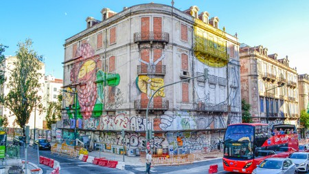 Metro stations are only some of the locations where you can admire street art in Lisbon
