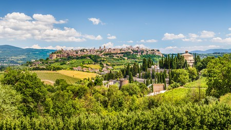 The old town of Orvieto is surrounded by vineyards and countryside