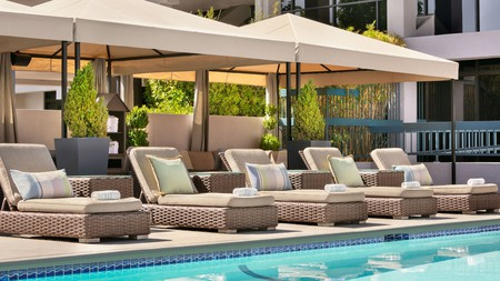 The Domain Hotel offers a heated pool after your business is done at the nearby tech firms