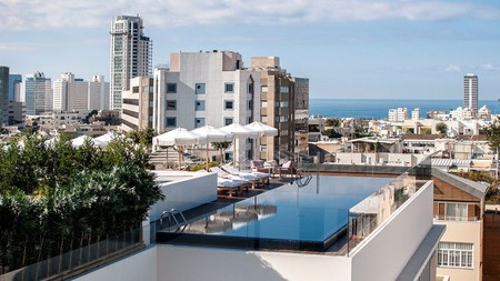 Check into the Norman Tel Aviv for spectacular views of the city from the rooftop pool