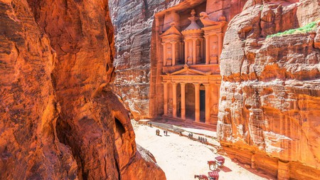 The Treasury is just one of many magnificent pieces of architecture in the ancient Nabatean city of Petra