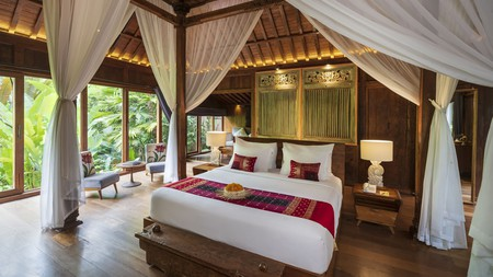 The atmospheric Ubud Valley Boutique Resort sits in thick jungle