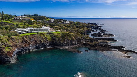 Enjoy a stay at the Caloura hotel resort in the Azores with panoramic views of the ocean and beyond