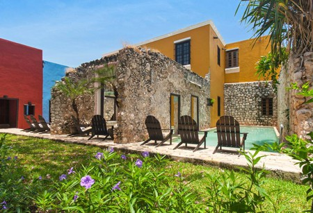 The Hacienda Puerta Campeche has a swimming pool unlike any other