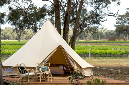 Glamping is the new way to travel and stay across some of Melbourne's prettiest landscapes