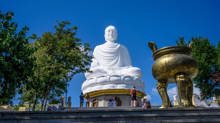 The Big Buddha at Long Son Pagoda is a symbol of Nha Trang recognised across Vietnam