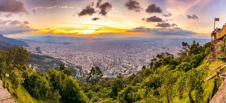 Monserrate gives you stunning views across Bogotá, Colombia