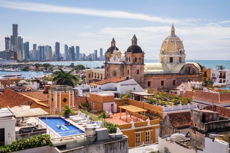 Cartagena's landscape is a striking blend of modern and traditional