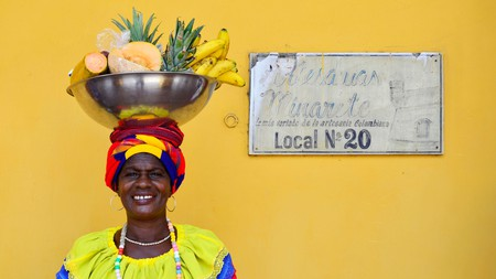 Expect to see fruit sellers, known as palenqueras, on your visit to Cartagena