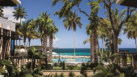 Enjoy palm-shaded luxury at the Dorado Beach Ritz-Carlton in San Juan, Puerto Rico