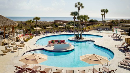 Plonk yourself on a pool-side sun lounger at the Ritz-Carlton for a chilled out afternoon on Amelia Island