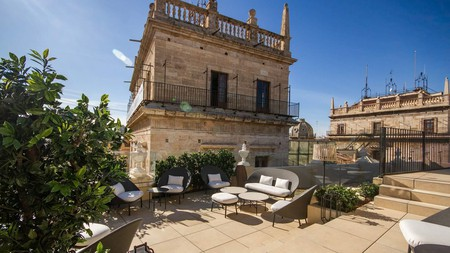 Hotel Palacio Vallier is a lavish affair set in a building featuring remnants of a Roman perfumery
