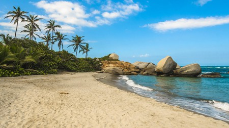 Arrecifes is one of the largest and most popular beaches in Tayrona National Park