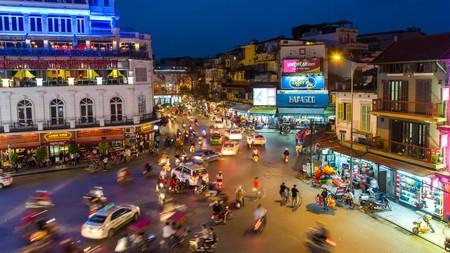 Ba Đình Square in Hanoi, Vietnam, is buzzing with activity