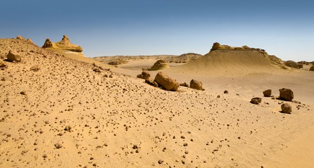 The Valley of the Whales, near Wadi El-Hitan in the Western Desert, has been carved out by wind erosion