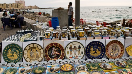If you're looking for a souvenir in Egypt, there are many stalls to explore