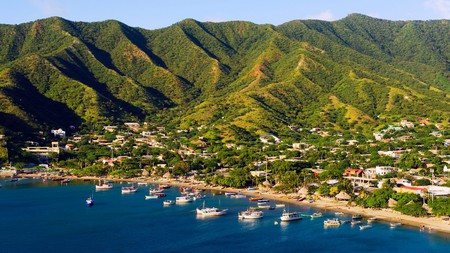 The charming village of Taganga lies on the Caribbean coast of Colombia