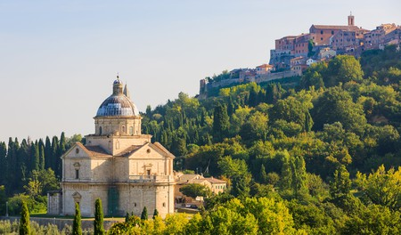 The Sanctuary of San Biagio dates back to the 16th century and sits just outside Montepulciano town