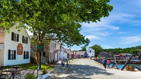 Mystic Seaport maritime museum in Mystic, Connecticut, USA