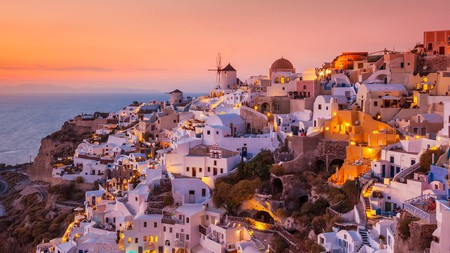 The village of Oia is a popular spot to watch the sunset on Santorini