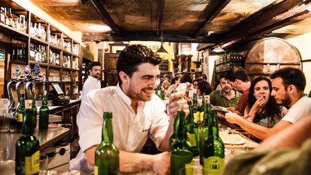 Visiting a sidrería or cider bar, such as the Tierra Astur Poniente, is a must when in Gijón