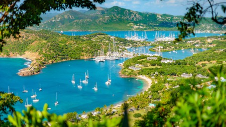 Pitch up at a bar in English Harbour, Antigua, for a refreshing drink with a view