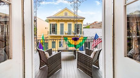 Saint Philip Residence is an elegant building in the French Quarter of New Orleans