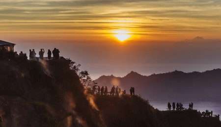 Summit Mount Batur in the early morning for a spectacular sunrise