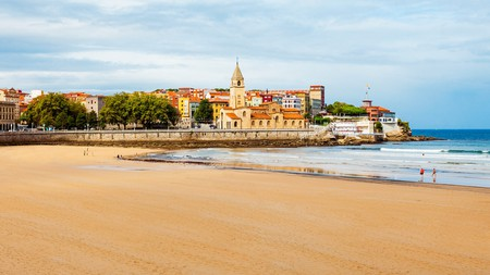 Gijón's beaches are among the most attractive on the Asturian coast