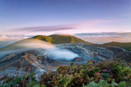 The Poás Volcano has erupted 40 times in the past 200 years