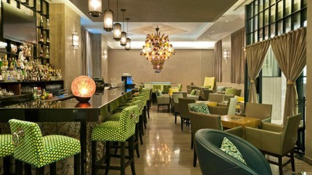 Hotel Marquis Reforma is a five-star offering set in an art deco-inspired glass and concrete building