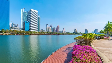 Benjakitti Park in Thonglor, Bangkok, is a great place for a stroll