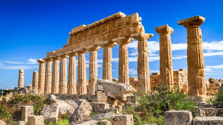 Visit Greek ruins such as the Acropolis of Selinus on the southwest coast of Sicily