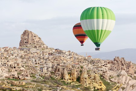 Up, up and away: a bird's-eye view is the best way to experience these extraordinary dwellings cut into the rock