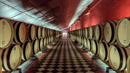 There are plenty of barrels to work through at the Reynolds Wine Growers estate