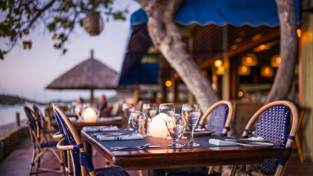 Opt for a waterfront restaurant on Virgin Gorda for pretty sunset views