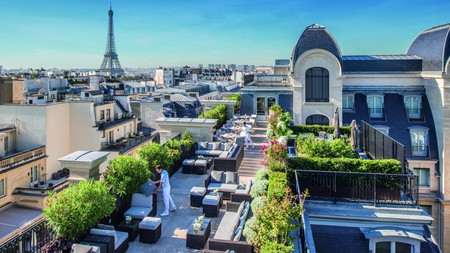 L'Oiseau Blanc is the crown jewel of the Peninsula Paris, with panoramic rooftop views