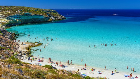 The Pelagie Island of Lampedusa, in the Mediterranean, is a beach-lover's paradise of white sands, clear waters and hidden coves.