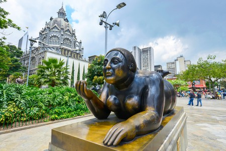 There are 23 sculptures by Fernando Botero on Plaza Botero in Medellín