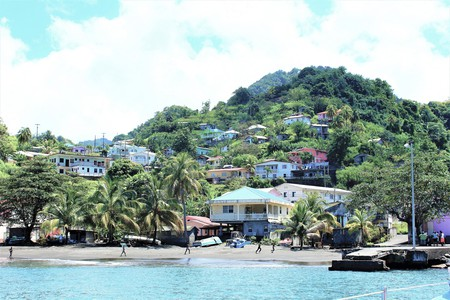 A typical coastal village on the island of St Vincent