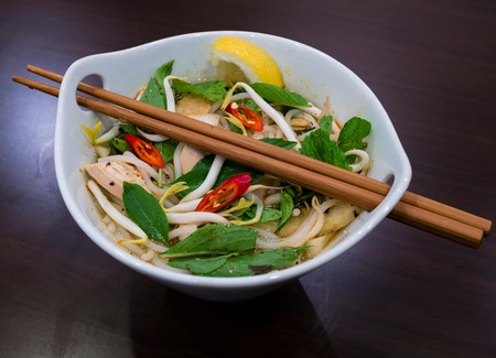 Pho Ga, a traditional Vietnamese chicken noodle soup is one of the many reasons why Vietnam's food scene is so highly sought after