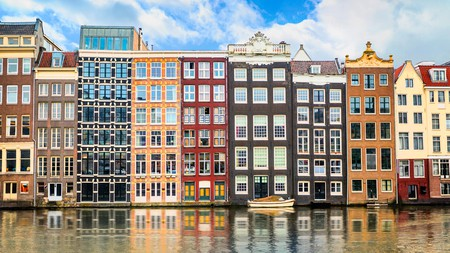 Get a flavour of Amsterdam with a stroll past the colourful buildings