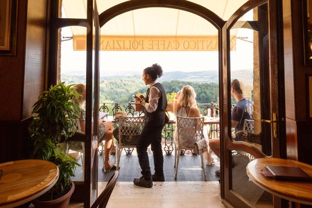 Is Caffe Poliziano, in Montepulciano, the most beautiful cafe in Tuscany?