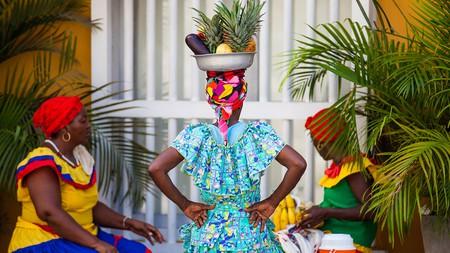 The fruit vendors of Cartagena, called palenqueras, come from the village of San Basilio de Palenque