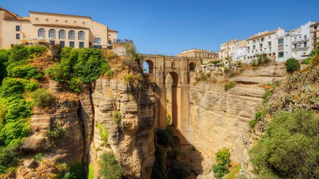 Ronda is perched high above sea level and offers spectacular views