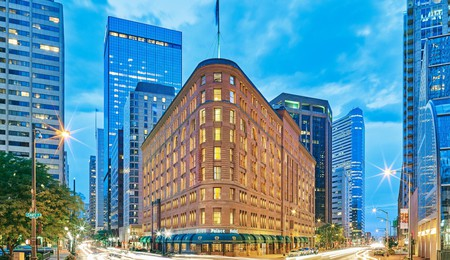 The Brown Palace Hotel and Spa is an iconic structure in central Denver