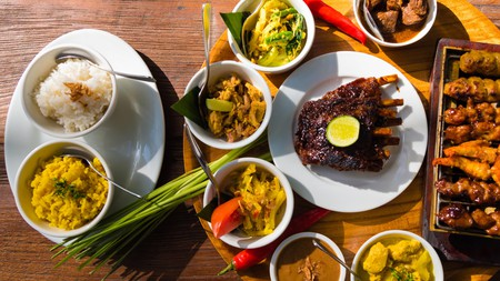 Traditional Balinese dishes are colourful and bursting with flavour