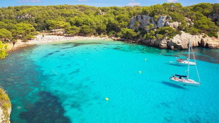 Menorca is home to incredible beaches and stunning blue water