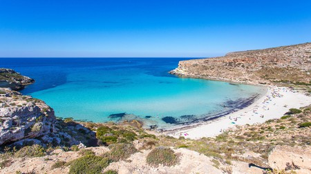 Rabbit Beach, with its turquoise waters, is one of Lampedusa's finest stretches of sand