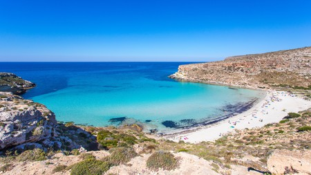 Rabbit Beach, with its turquoise water and white sands, is one of Lampedusa's finest